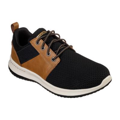 Skechers Mens Delson Closed Toe Slip-On Shoe