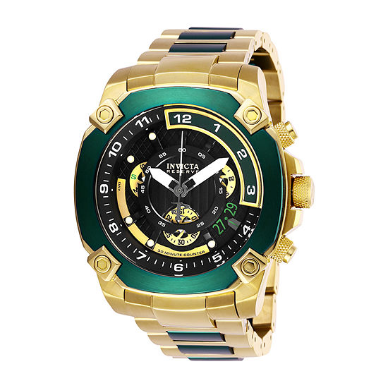 Invicta Reserve Mens Chronograph Gold Tone Stainless Steel Bracelet Watch-27050