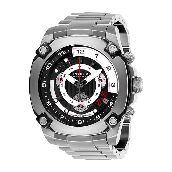 Invicta Reserve Mens Chronograph Silver Tone Stainless Steel Bracelet Watch-27049
