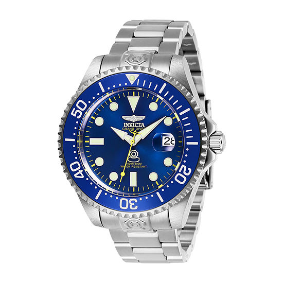 Invicta Mens Automatic Silver Tone Stainless Steel Bracelet Watch-27611