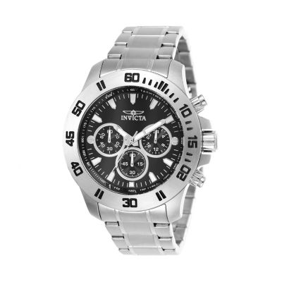 Invicta Specialty Mens Chronograph Silver Tone Stainless Steel Bracelet Watch 21481