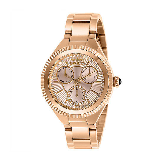 Invicta Womens Rose Goldtone Bracelet Watch 28346