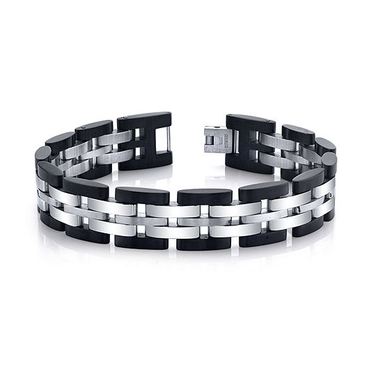 Stainless Steel Solid Link Chain Bracelet