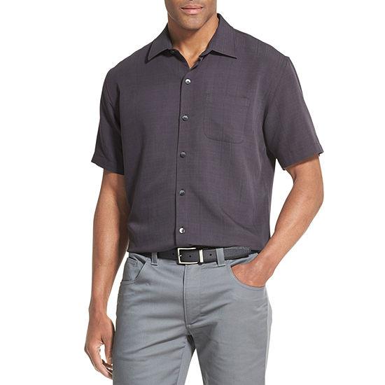 Van Heusen Air Sandwashed Short Sleeve Button Down Camp Shirt