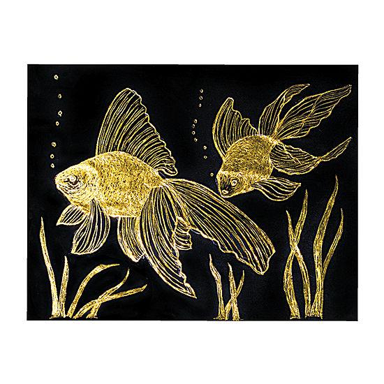 Melissa & Doug Scratch Art Paper - Gold & Silver Foil (50 Sheets) Kids Art Set