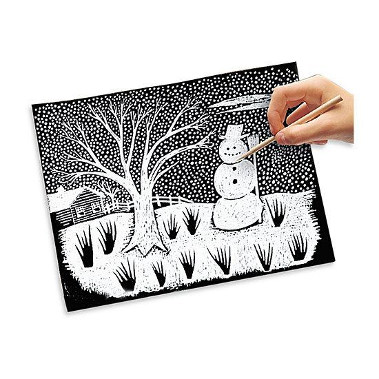 Melissa & Doug Scratch Art Paper - White (50 Sheets)