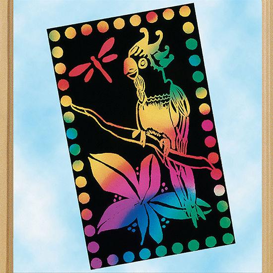 Melissa & Doug Scratch Light - Stained Glass (30 Sheets) Kids Art Set
