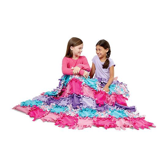 Melissa & Doug Created By Me - Flower Fleece Quilt Kids Craft Kit