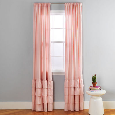 Frank And Lulu Light-Filtering Rod-Pocket Single Curtain Panel