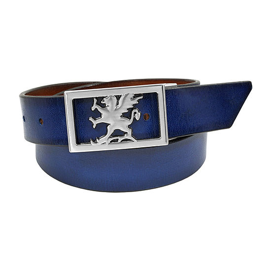 Stacy Adams® Kosar 34MM Knife Blade Tip Belt with Griffin Logo Buckle
