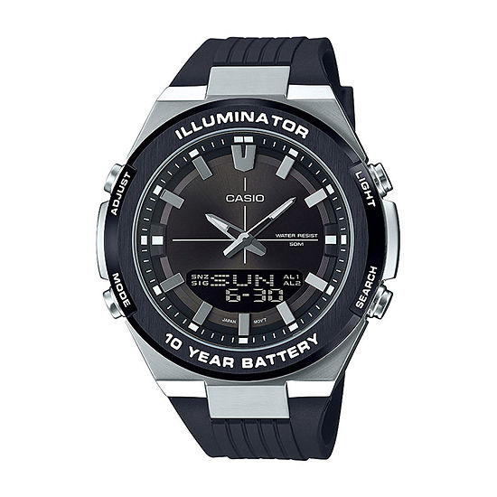 Casio Mens Black Strap Watch-Amw860-8av