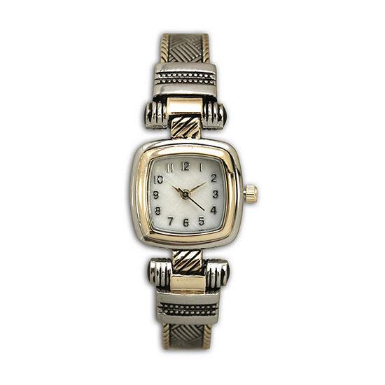 Olivia Pratt Womens Two Tone Strap Watch-H10032twotone