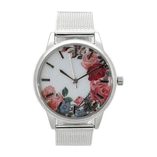 Olivia Pratt Womens Silver Tone Bracelet Watch-A917645silver