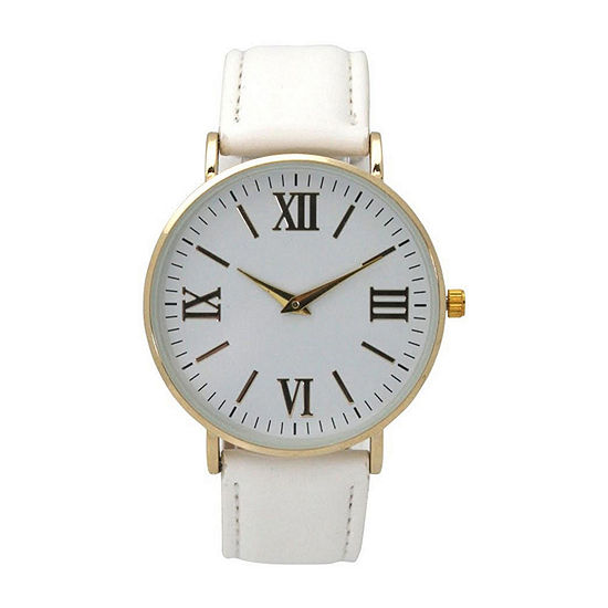 Olivia Pratt Womens White Strap Watch-515309white