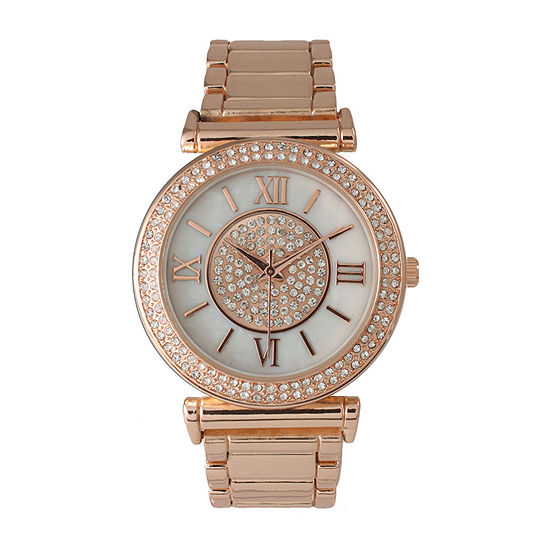 Olivia Pratt Unisex Rose Gold tone Bracelet Watch-514422