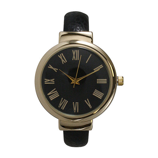 Olivia Pratt Unisex Black Strap Watch-515132