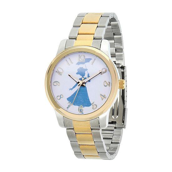 Disney Womens Two Tone Stainless Steel Bracelet Watch-Wds000634