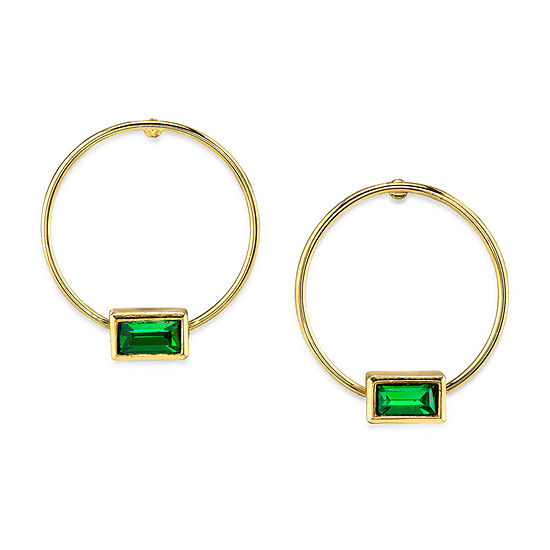1928 14K Gold Over Brass Hoop Earrings