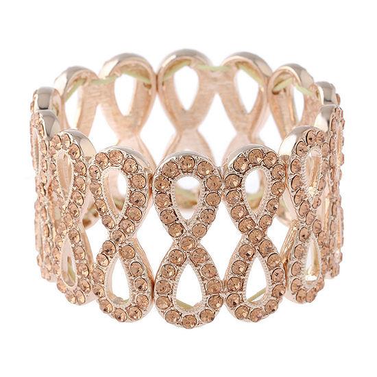 Monet Jewelry Orange Round Stretch Bracelet