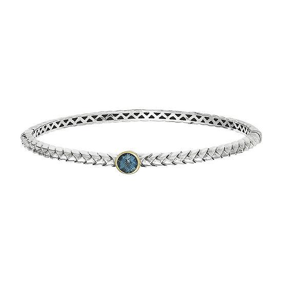 Shey Couture London Blue Topaz Sterling Silver Bangle Bracelet