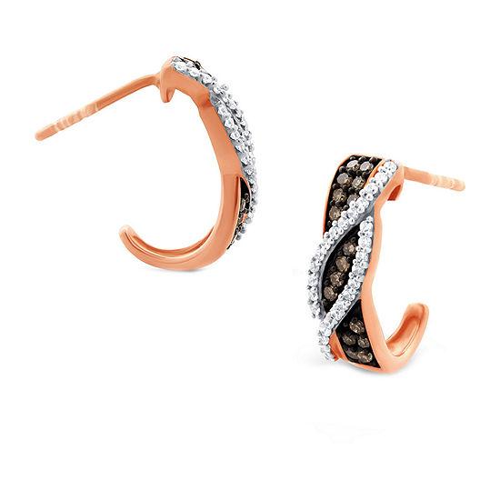 1/3 CT. T.W. Genuine White Diamond 10K Gold Drop Earrings
