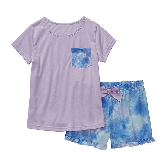 Arizona Girls 2-pc. Shorts Pajama Set Preschool / Big Kid