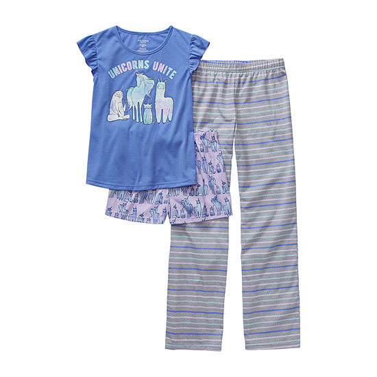 Arizona Little & Big Girls 3-pc. Pajama Set