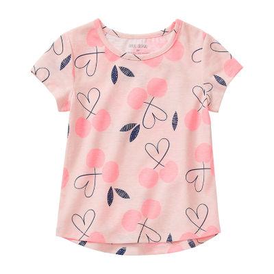 Okie Dokie - Little Kid Girls Round Neck Short Sleeve Graphic T-Shirt