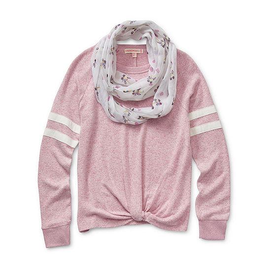 Inspired Hearts Little Kid / Big Kid Girls Crew Neck Long Sleeve Sweatshirt