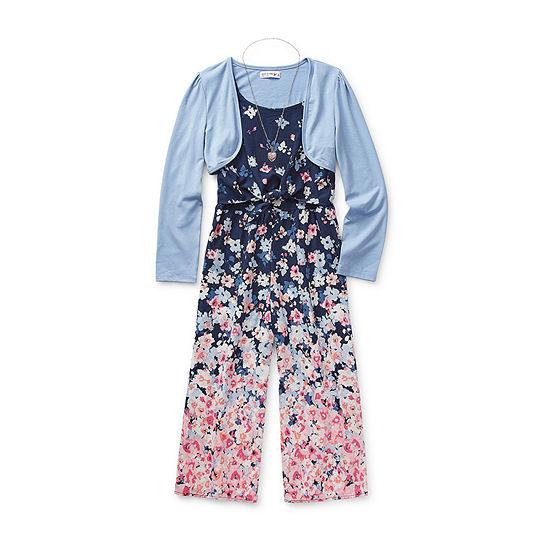 Knit Works 2-pc. Girls Jumpsuit Preschool / Big Kid