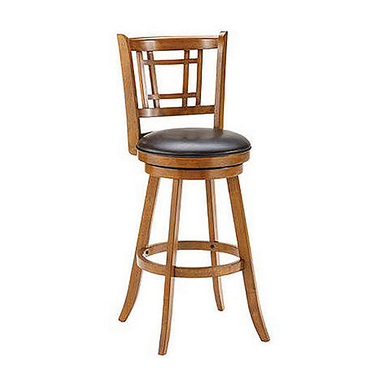 Fairfox Swivel Barstool with Back