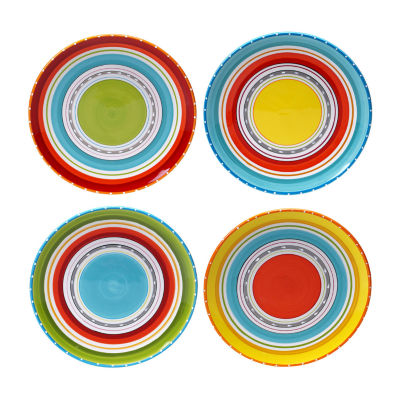 Certified International Mariachi Set of 4 Dinner Plates