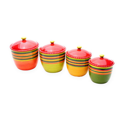 Certified International Hot Tamales 4-pc. Canister Set