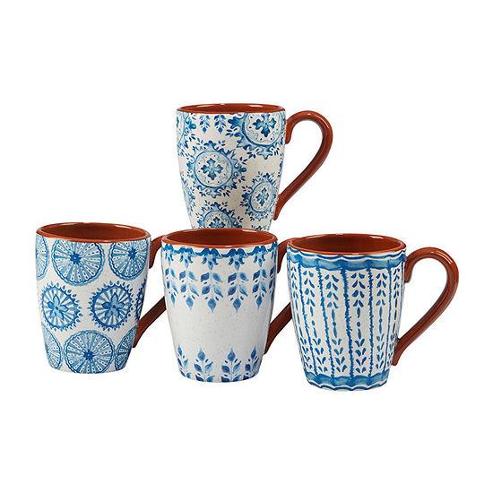 Certified International Porto 4-pc. Coffee Mug