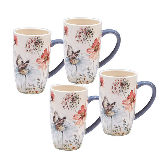 Certified International Country Weekend 4-pc. Coffee Mug