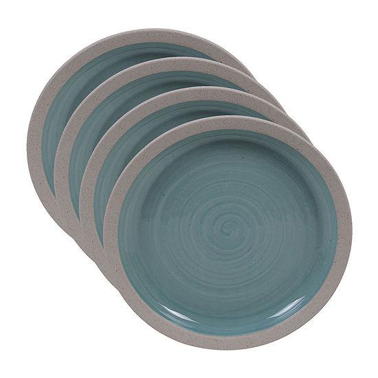 Certified International Artisan Teal 4-pc. Salad Plate