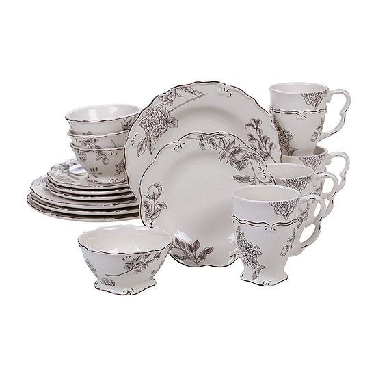 Certified International Vintage Floral 16-pc. Dinnerware Set
