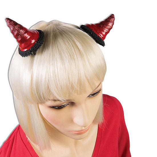 Red Devil Horn Barrettes