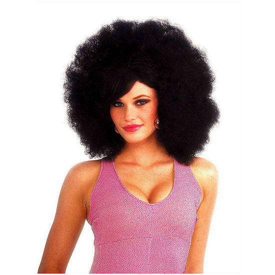 Black Pop Afro Adult Wig