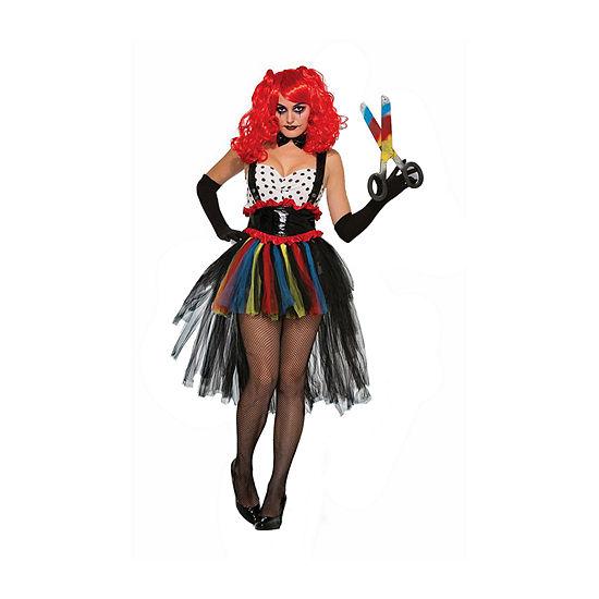 Women'S Evil Girlie Clown Costume