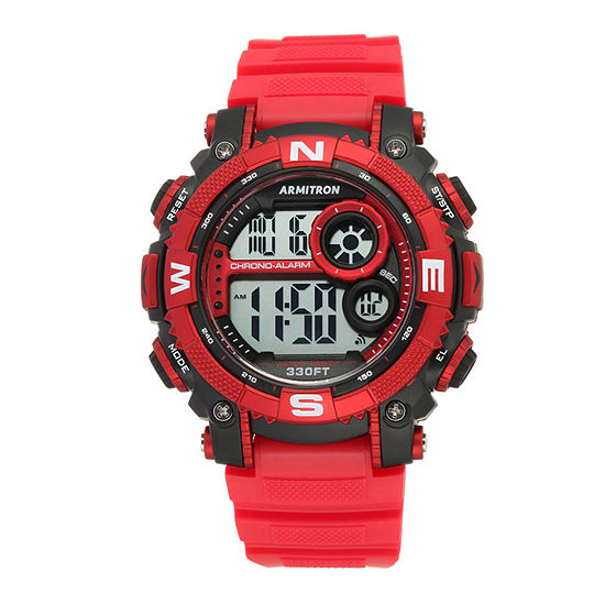 Armitron Pro Sport Mens Digital Red Strap Watch-40/8284rdbk