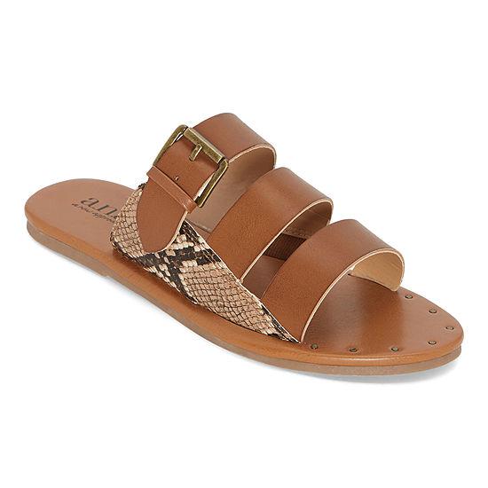 a.n.a Womens Erie Slide Sandals