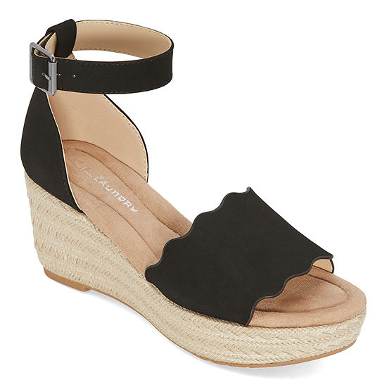 CL by Laundry Womens Dedicated Wedge Sandals