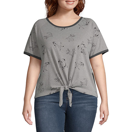Juniors Plus Womens Round Neck Short Sleeve The Lion King Graphic T-Shirt