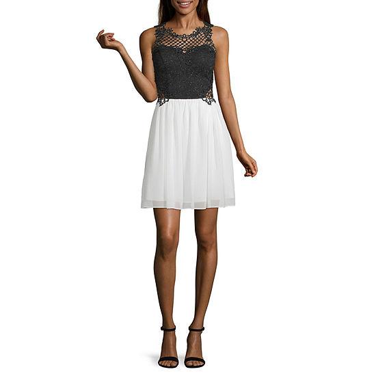City Triangle-Juniors Social Sleeveless Applique Dress Set