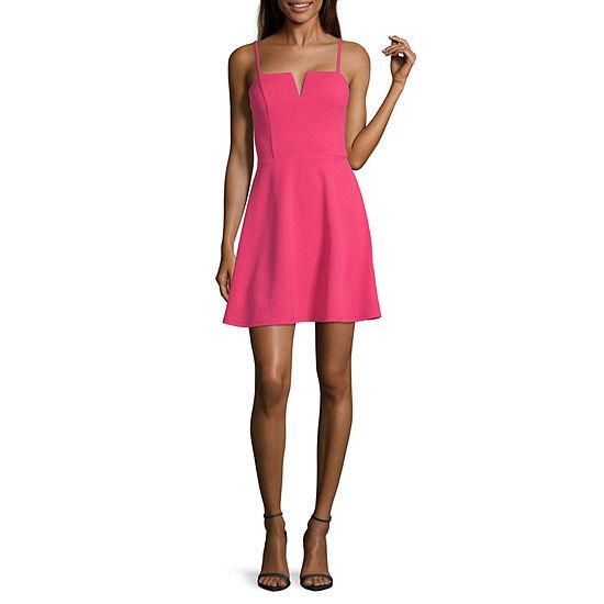 Trixxi-Juniors Sleeveless Fit & Flare Dress