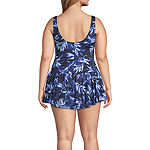Azul by Maxine of Hollywood Floral Swim Dress Plus