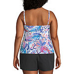 Azul by Maxine of Hollywood Floral Tankini Swimsuit Top Plus