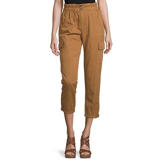 Arizona-Juniors Womens High Rise Straight Fit Ankle Pant