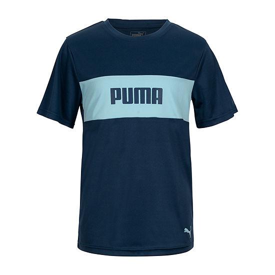 Puma - Big Kid Boys Crew Neck Short Sleeve Graphic T-Shirt
